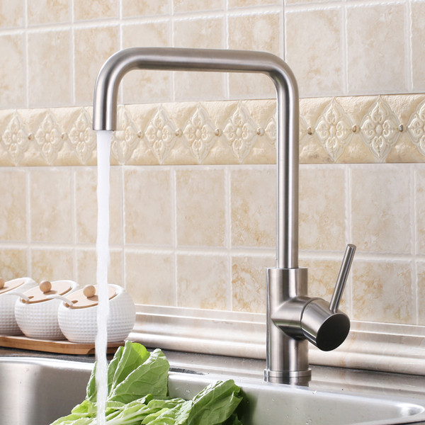304 stainless steel kitchen faucet rotating sink sink hot and cold faucet
