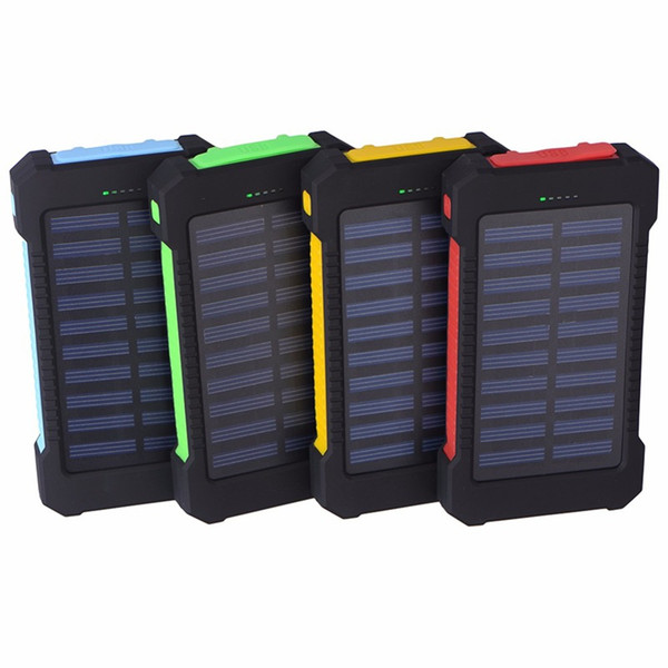 Furniture Cover Waterproof Solar Power Bank Real 20000 mAh Dual USB External Polymer Baery Charger Outdoor Light Lamp