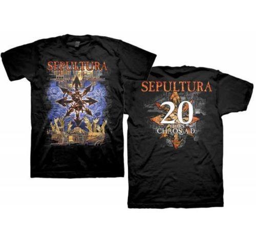 Sepultura 20 Years Chaos Ad T Shirt S-M-L-Xl-2Xl Brand New Official T Shirt T Shirt Short Sleeve Custom T-Shirts 2018 New Camiseta Cotton Cr