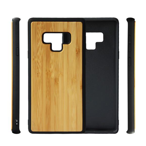 Novo design quente de madeira tpu phone case para samsung galaxy note 9 8 s9 s8 plus s7 s6 borda original de bambu de madeira do telefone móvel case capa para iphone