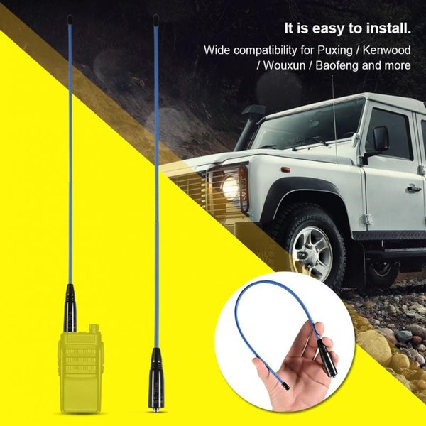For Puxing/Wouxun/Baofeng Radio Antenna Flexible Dual Band VHF/UHF Antenna 144/430MHZ Female Two Way Radio Soft