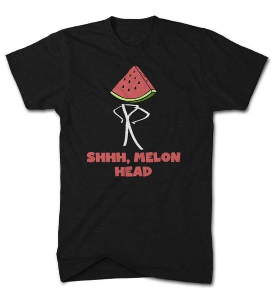 Shh Melon Head Funny Fruit tshirt mens Womens Food Top Cool Casual pride t shirt men Unisex New Fashion tshirt Loose Size top ajax