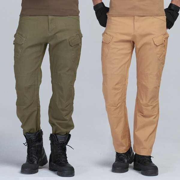 Multi Pocket Tactical Pants Baggy Men's Camo Fashion Negro Verde Khaki Outdoor Military Style Army Fatigue Panty Cargo Pant
