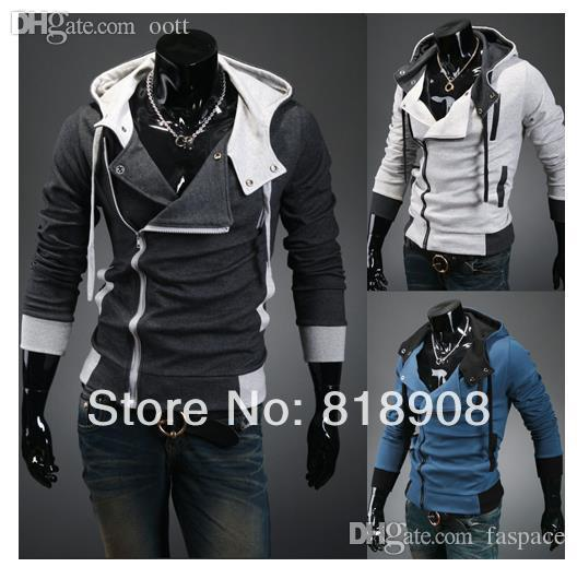 Wholesale-2015 Frühling / Herbst assassins creed cosplay hoodies pullover jacke unisex herren oder frauen hoodies