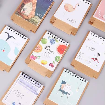 top popular Animals Series Calendars Plan Notebook Cute Mini Office Cat Dog Desk Paper Calendar Gift Daily Plan Table Manage the Schedule 2020