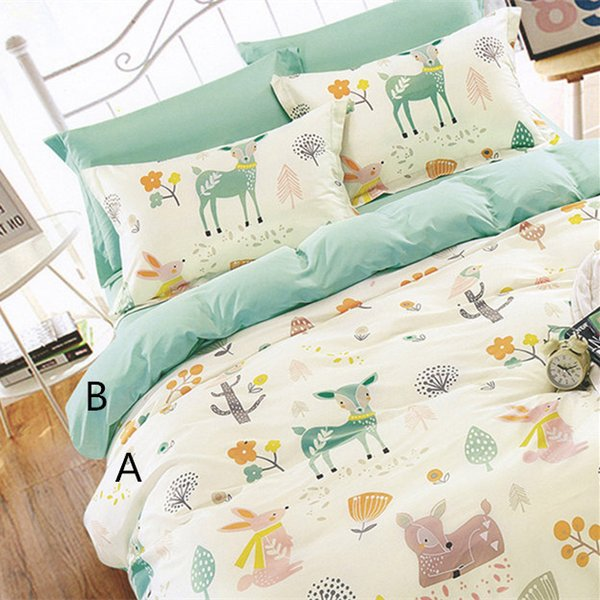 160cm*50cm rabbit deer infant baby cotton fabric bed sheets duvet cover bed linens pillow kids fabric for sewing qulit tissues