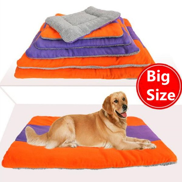Fleece Pet Dog Bed Sleep Warm Big Dog Cat Puppy Soft Dog Blanket Mat Fall Winter Warm Kennel Plus size Drop shipping 0709#