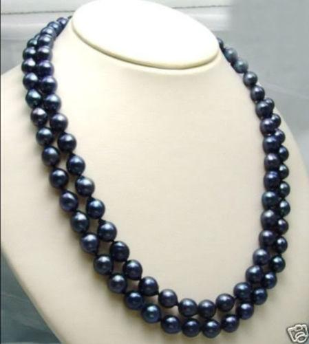 Charmant! 8-9MM TAHITIAN BLACK PEARL Collier 32