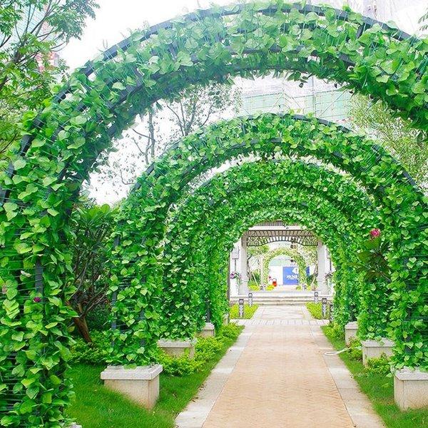 2.1m longues plantes artificielles vert lierre feuilles artificielle raisin vigne faux Parthenocissus feuillage feuilles Home Wedding Bar décoration