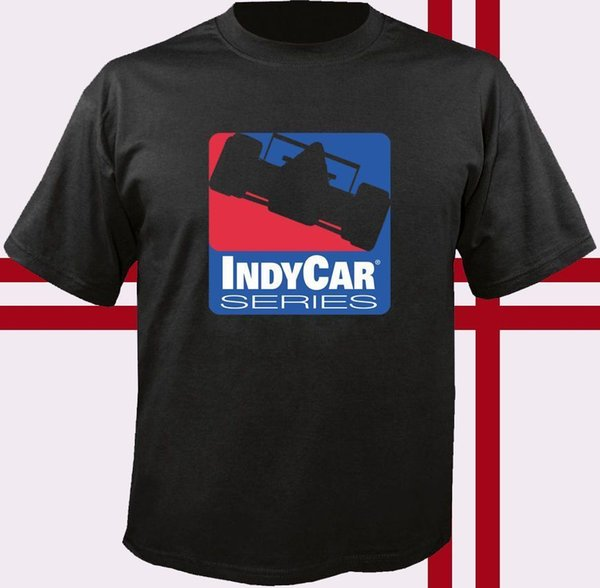 Indy Car Racinger Red Blue Logo T-shirt Fashion New Top Tees T Shirt Top Tee Low Price Round Neck Men Tees