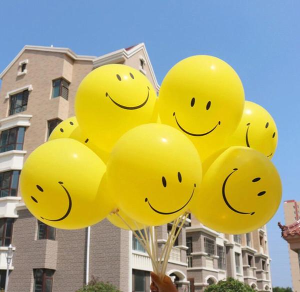 Neue Mode 36 zoll Gelb Lächeln Gesicht Muster Latex Große Luftballons Lustige Kinder Spielzeug Geburtstagsfeier Hochzeit Dekorationen