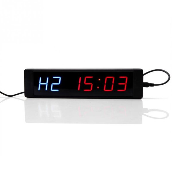 Programmable Training Timer LED Display Interval Timer Wall Clock with Remote for Gym Fitness Training