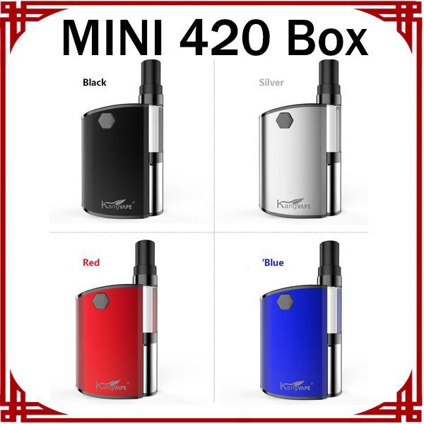MINI 420 Box Vape 1,5 Ohm Kartuschen 510 Patronen mit Keramikspule Vape Pen Starter Kits Einstellbare Variable Spannung