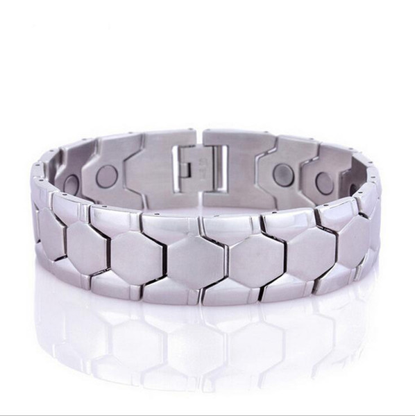 High Quality Men Women Jewelry Energy Health Care Magnetic Bracelet Fashion Benefit Gold Silver Stainless Steel Magnet Health Bracelets