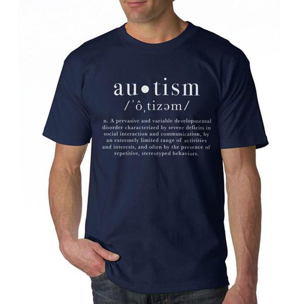 Autism Definition Cool Men's Navy T-shirt NEW Sizes S-3XL Top Tee 100% Cotton Humor Men Crewneck T Shirts Plus Size
