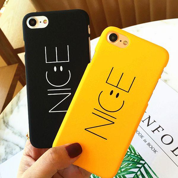 Toptan Kore İngilizce Mektup Iphonex için Güzel Koruma Pc Durumda 8 6 s 7 artı Sevimli Kabuk Siyah Sarı Iphone5s Yarım Sarılmış vaka