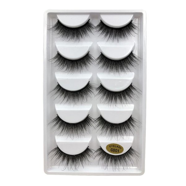 5 Pairs 3D Mink Hair Eyelashes Natural Thicker Type False Eyelashes Extension Make Up Beauty Tools