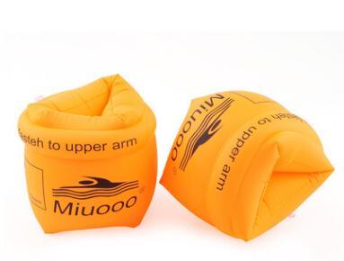 Nueva Natación Grueso Cómodo Seguro Banda para el brazo Anillo Doble capa a prueba de fugas Mangas inflables flotantes para un niño adulto Un par