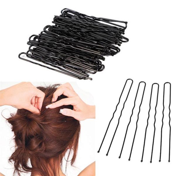 Summer Hairpins Lot 500pcs Hair Waved U Shaped Bobby Pin Barrette Salon Grip Clip Pin Accessories Free Shipping