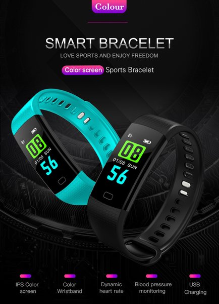 NEW Y5 Smart Watch Sports Fitness Activity Heart Rate Tracker Blood  Pressure Watch Fitness Tracker Top Rated Pedometer Top Pedometers From
