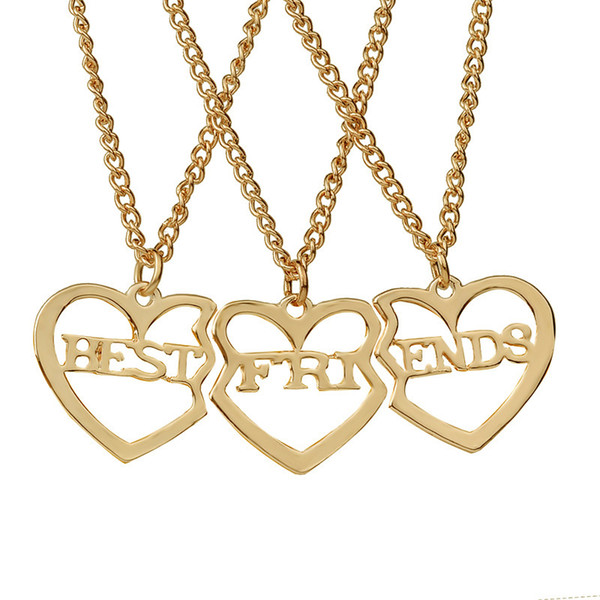 Золотая цепь колье ожерелье золотые ювелирные изделия подарки мода сердце кулон колье колье колье для мужчин женщин хороший друг