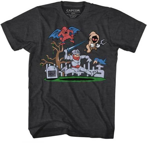 Ghost And Goblins Arthur In The Graveyard Capcom Video Game Adult T Shirt