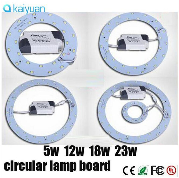 SMD 5730 leads 5W12W15W23W ring plate lamp AC85-265VLED round ceiling kitchen bedroom with circular lamp board