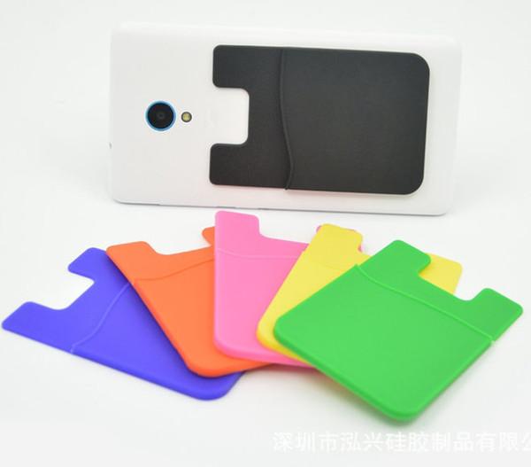 Großhandel Kreditkartenetui Silikon Handy Etui Mit Stick On Iphone Samsung Android Phonetable Kühlschrank Tür 10pack Von Fmarket 5 83 Auf