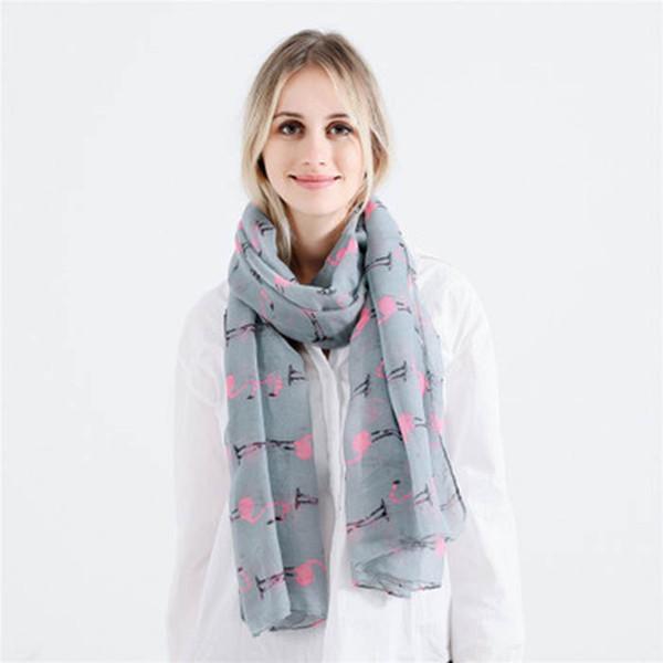 e1eb201bfe3 Nouvelle Mode Femmes Brillant Rose Gris Bronzant Feuille Or Flamingo Swan  Infinity Écharpe Snood Pour Femmes