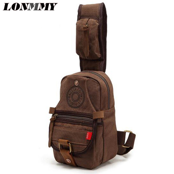 LONMMY Multifunción Crossbody Bags Hombre USB Charging Pecho Pack Short Trip Messengers Pecho Bag Wear shoulder bolso resistente