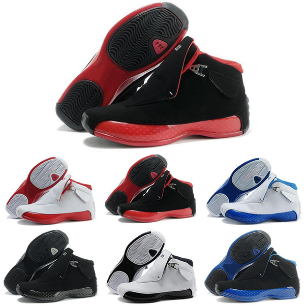2018 18 Gym Red Black Blue Royal White Metallic Silver for Mens Basketball Shoes classic 18s XVIII Mid Athletic Sport Sneakers US8.0-13