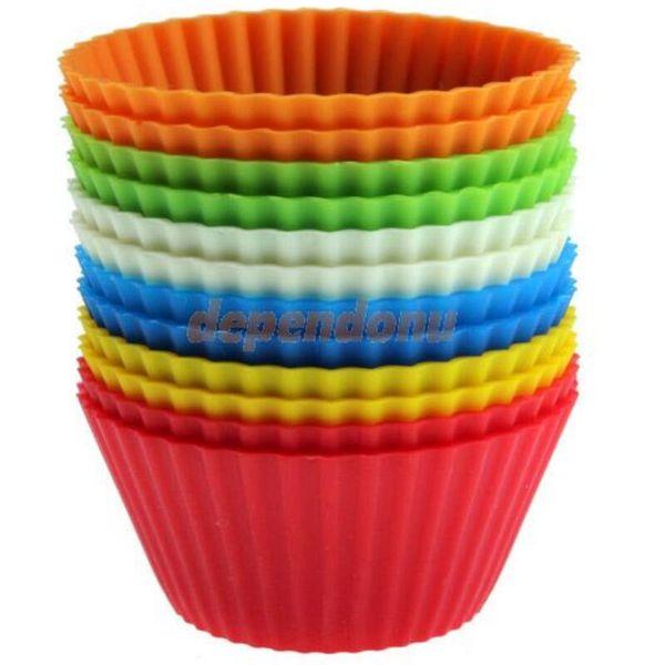 7 cm gel di silice Liners stampo in silicone muffin tazza di cottura tazze tazze di dolci torta di casa strumenti di cottura LX3360