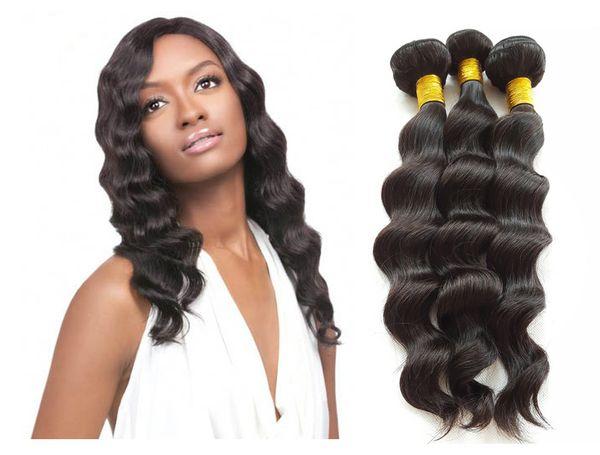Super fast shipping Loose Wave Human Hair Natural Color Darkest Brown Unprocessed Virgin Peruvian Hair Weave
