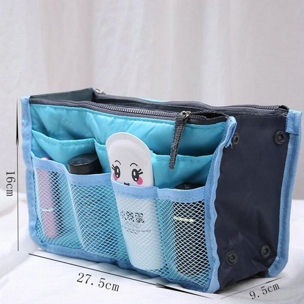 Clear Compact Portable Make up Women Makeup Organizer Bag Girls Cosmetic Bag Toiletry Travel Kits Storage