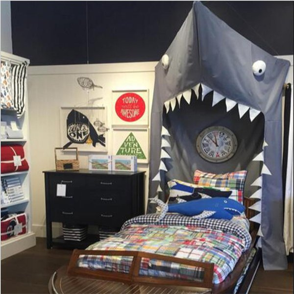 Explosion Children's Room Shark Style Bedding Baby Ceiling Game House Oversize Tent Indoor Toy House