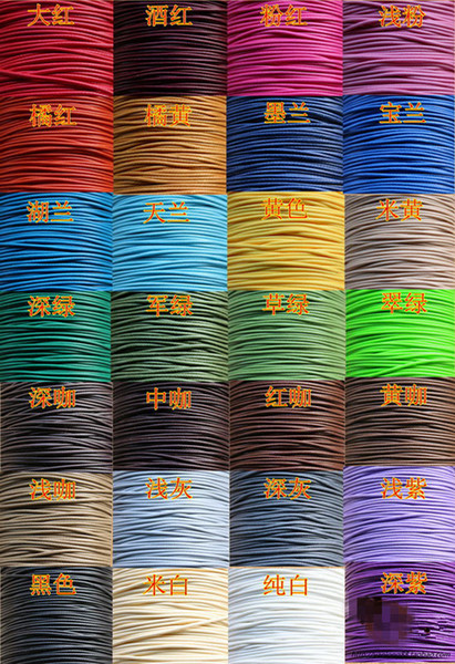 top popular 20colors lot 1mmx 20m waxed polyester poly cord string waterproof DIY thong necklace bracelet leather craft free shipping HOT 2021
