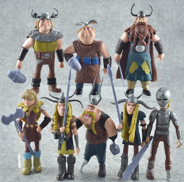 Clássico 8 estilos Como Treinar o Seu Dragão 2 Figuras de Ação de Cimento Plástico 4-5 polegada Filmes Brinquedos Dos Desenhos Animados Presente de Natal para Crianças + Filme GRÁTIS