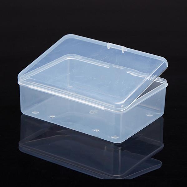 Лучшие продажи прозрачная пластиковая коробка для хранения прозрачная квадратная многоцелевая витрина пластиковые коробки для хранения ювелирных изделий