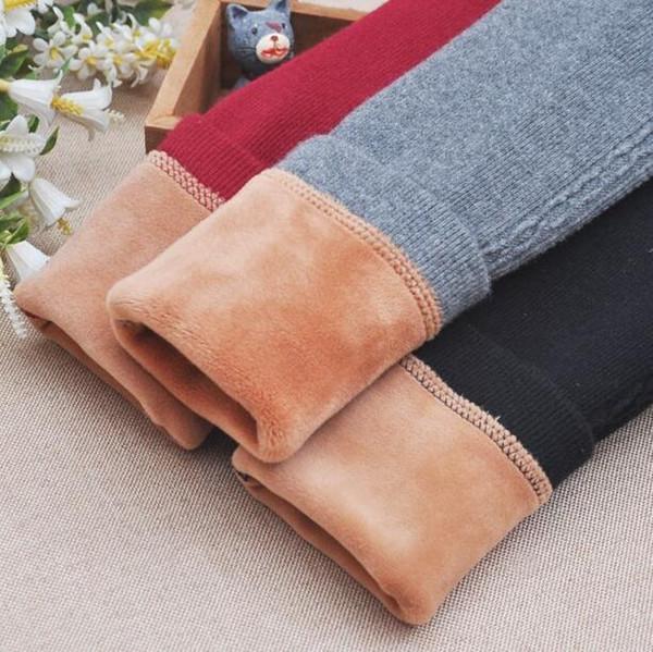 Autumn and winter children's wear girls plus velvet thickening leggings children's baby trousers in the children's pants wear