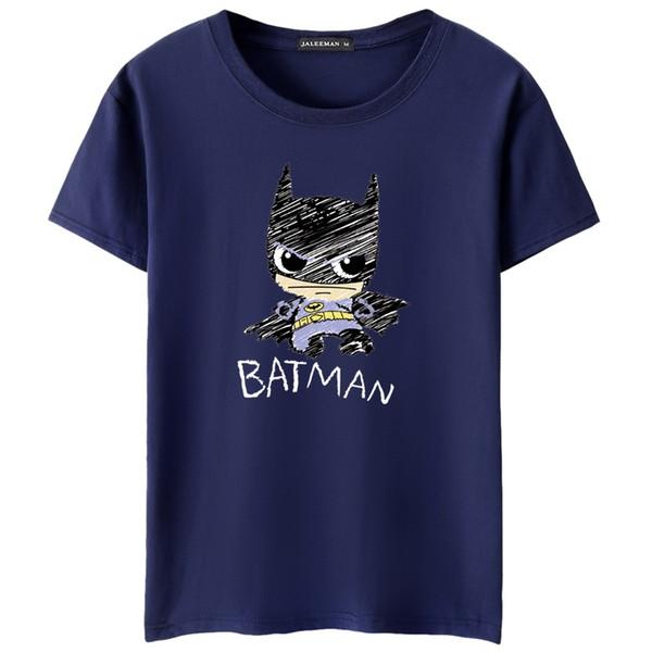 Die T-Shirts der Sommer-Frühlings-Männer druckten Batman-zufällige Baumwollmode plus Größe T-Shirts