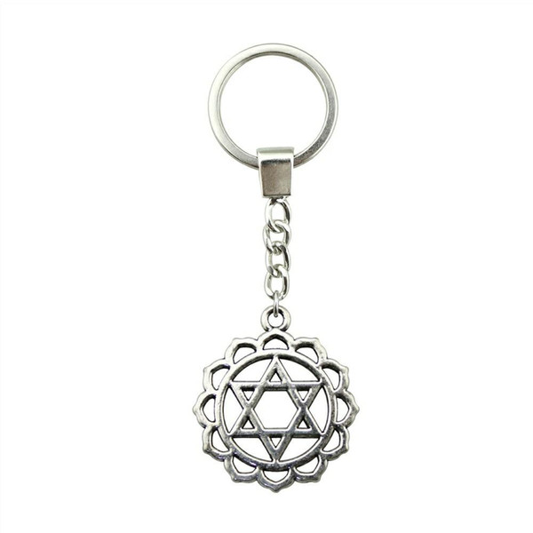 6 Pieces Key Chain Women Key Rings Car Keychain For Keys Star Of David 31x26mm