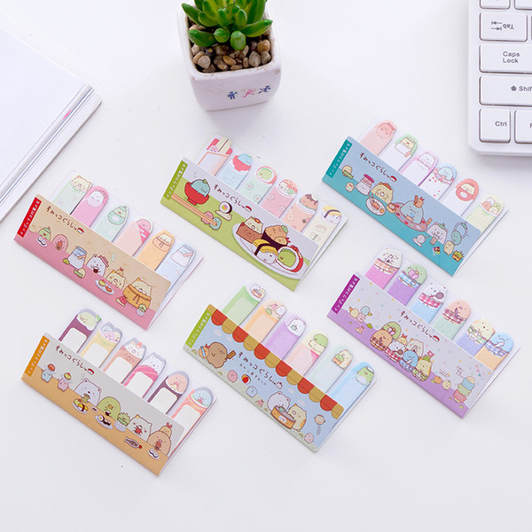 best selling Sumikko Gurashi Finger Memo Pad Sticky Notes Shopping Escolar Papelaria School Supply Label
