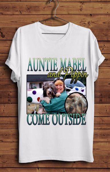 Ven afuera Camiseta Vintage Retro Divertido Homenaje 90 s BBC TV Pippin Tía Mabel