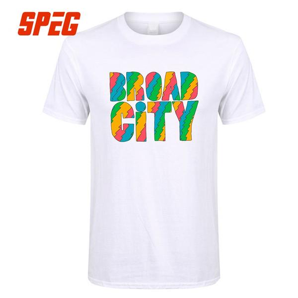 Amplia serie de televisión de la ciudad, hombres de colores, camiseta o cuello corto, camiseta, hombres locos, camiseta de gran tamaño, algodón de manga corta