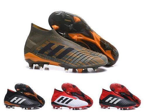 2019 2019 New Kids Mens Women Predator 18 FG Soccer Cleats Children ... 6830be40d4