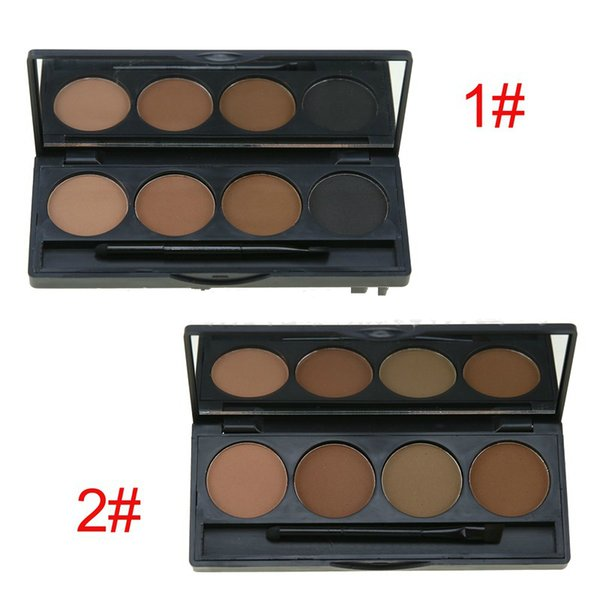 Best sell in amzon No Logo Cosmetic 4 color Makeup Eyebrow powder eyebrow kit with brush 120pcs