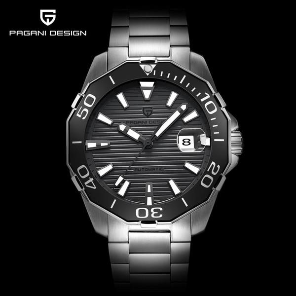 PAGANI DESIGN Herren Mechanische Uhren Mode Luxusmarke Automatische Selbst Wind Edelstahl Armbanduhr Relogio Masculino