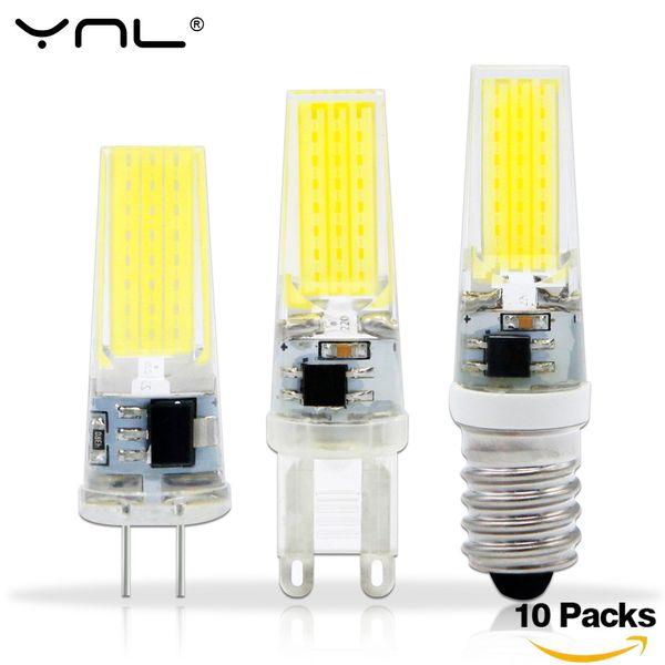 10PCS/Lot Lampada LED G4 Lamp AC/DC 12V 220V COB E14 LED Bulb G9 Lighting Lights replace Halogen Spotlight Chandelier