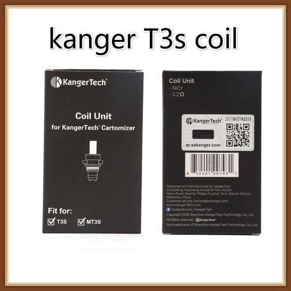 Unidad de bobina Kangertech MT3 T3S 100% original Cabeza de bobinas de repuesto de Kanger CC Clear Cartomizer 1.5 1.8 2.2 2.5 ohm