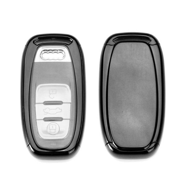Carro da audi escudo chave especial de controle remoto botão inteligente shell chave TPU soft plástico shell escudo à prova d 'água forte sinal sistema de alarme